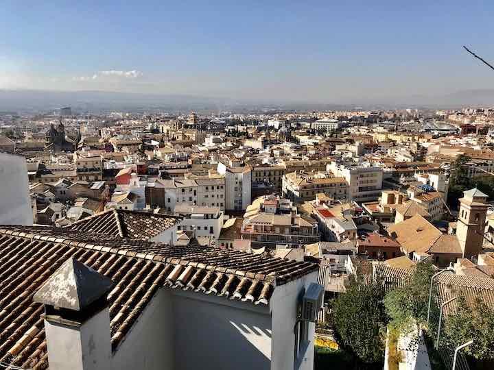 Ausblick über Granada