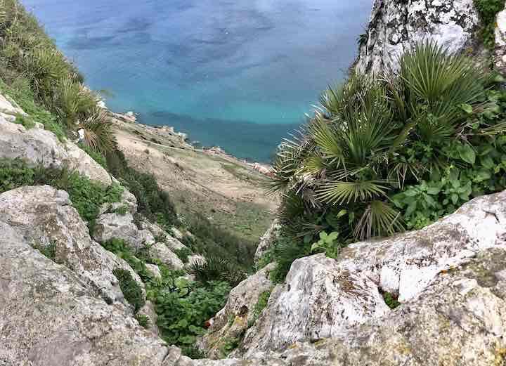 Aussicht Berg von Gibraltar Strand