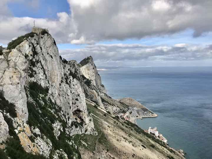 Berg von Gibraltar von oben