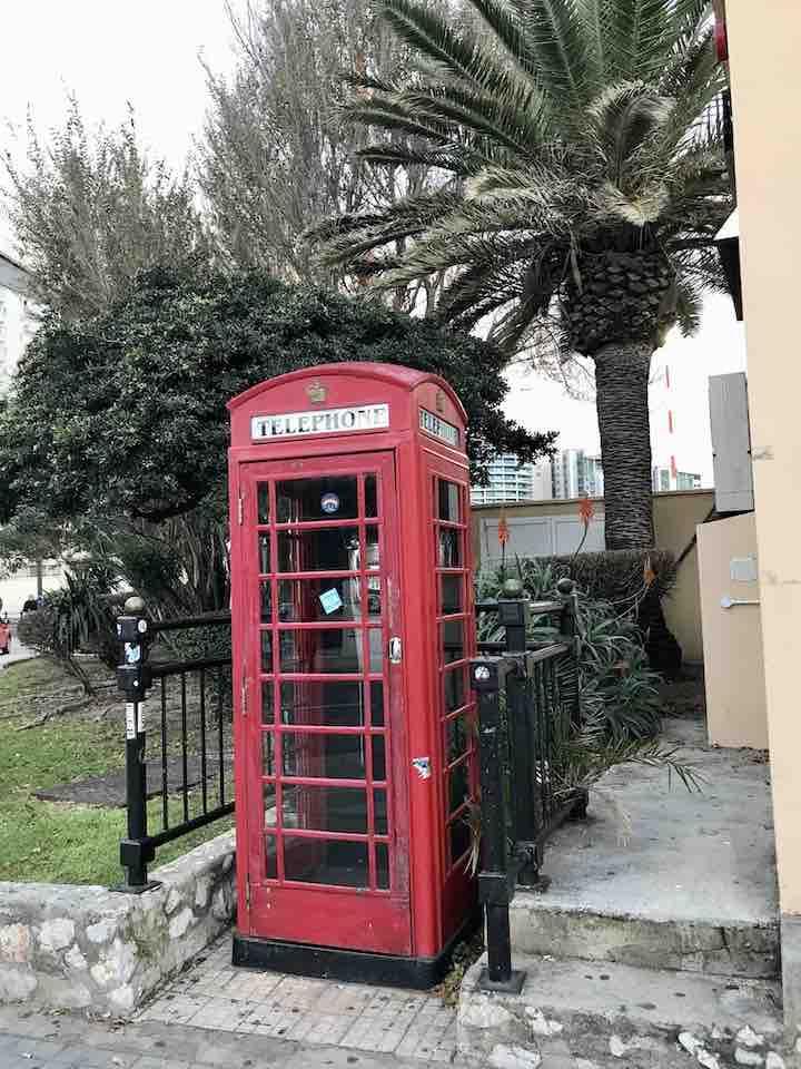 Englische Telefonzelle Gibraltar