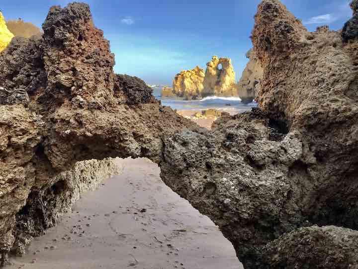 Felsen an der Algarve