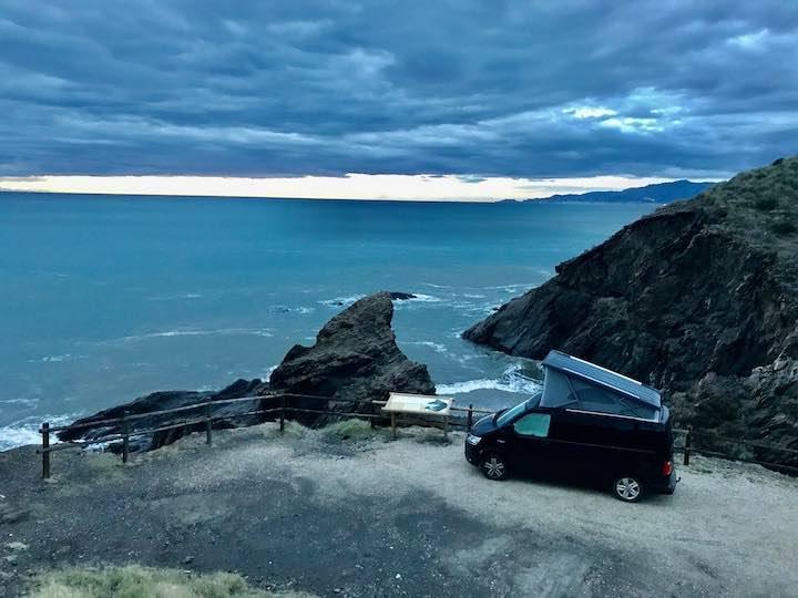 Stellplatz an der Küste bei Pulpí Vanlife in Spanien