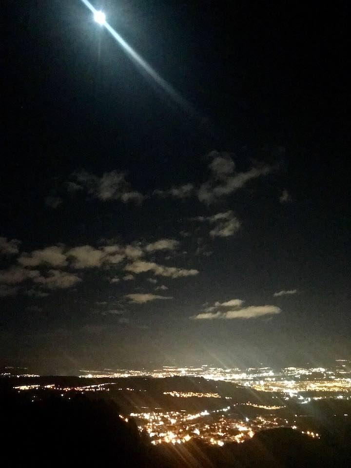 Blick über Alfacar und Granada