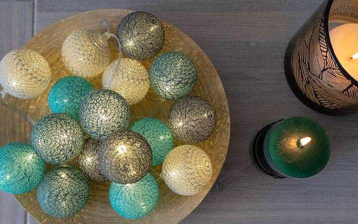 Lichterkette Cotton Balls Bulli