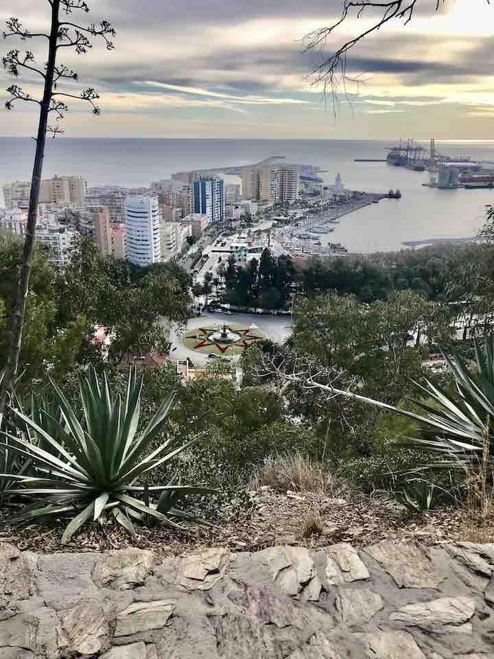 Málaga Aussicht vom Berg