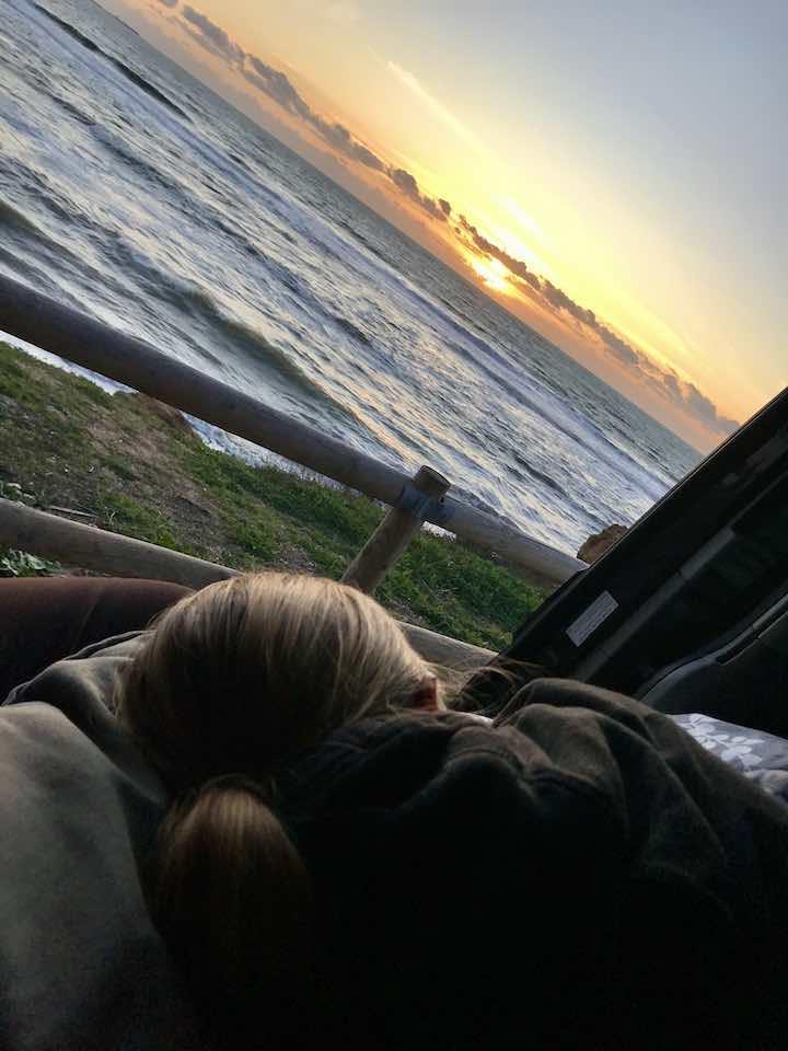 Sonnenuntergang genißen bei Cadiz