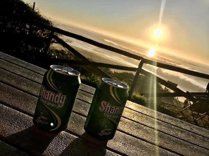 Alster bei Sonnenuntergang Vanlife Westküste Portugal