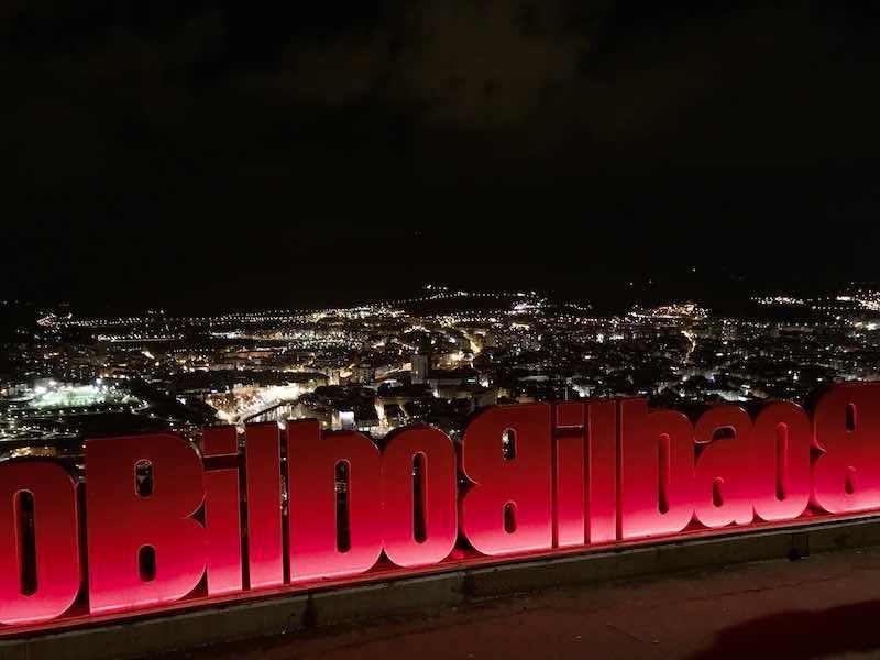 Bilbao Aussicht Nacht