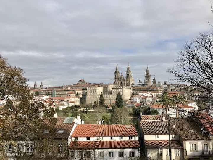 Dächer von Santiago de Compostela