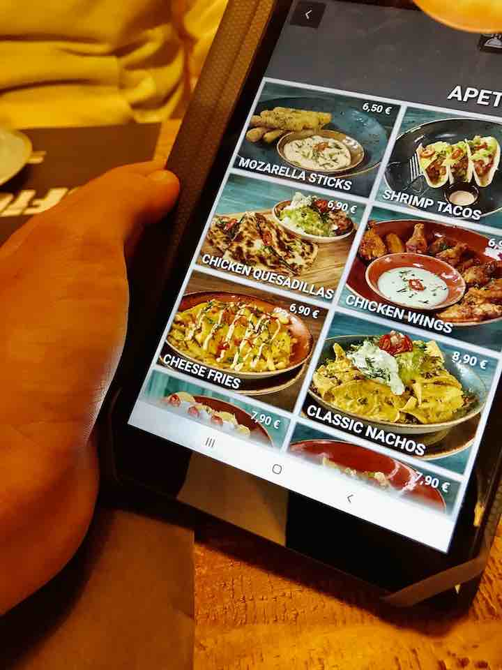 Essen bestellen Tablet