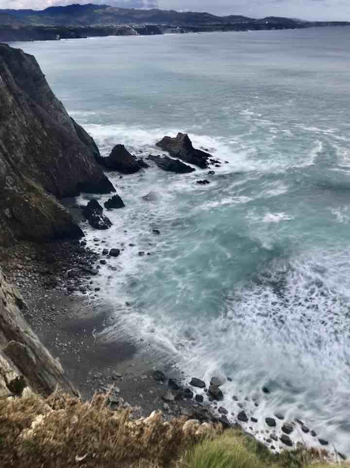 Schwarzer Strand Atlantik