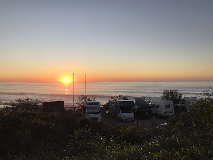 Sonnenuntergang Best Spot Vanlife Westküste Portugal