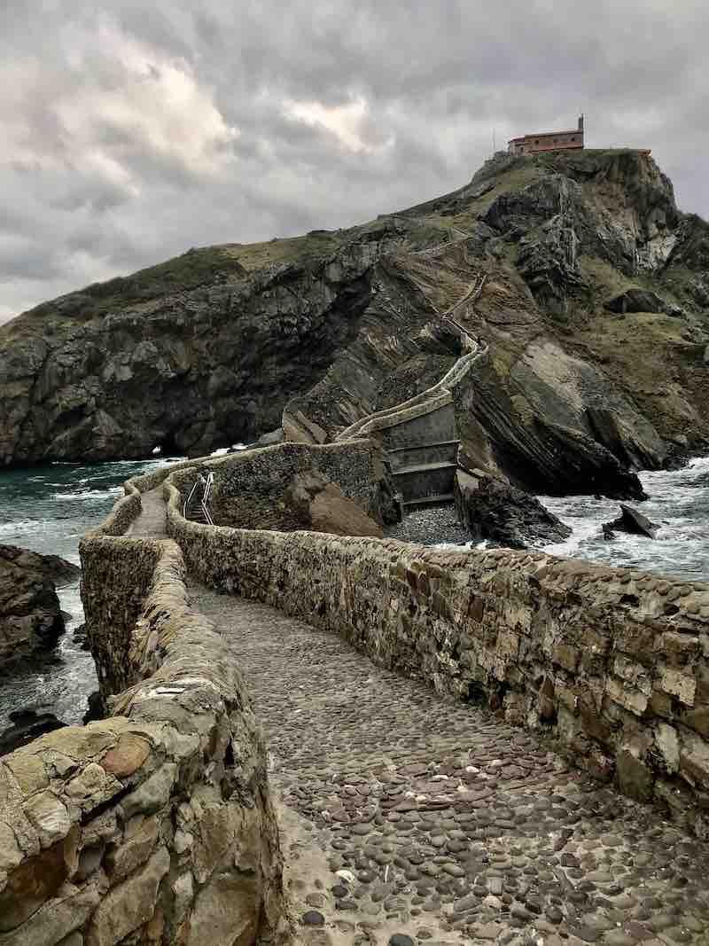 Weg zu Gaztelugatxe Baskenland