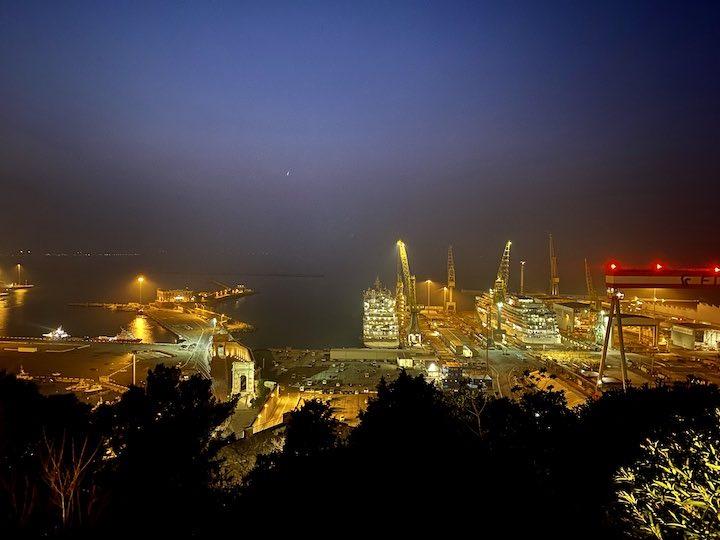 Hafen Ancona Nacht