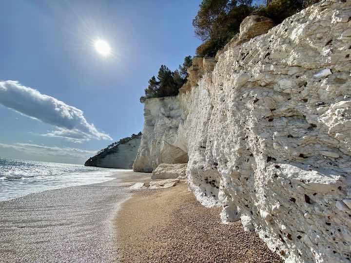weiße Felsen Adria