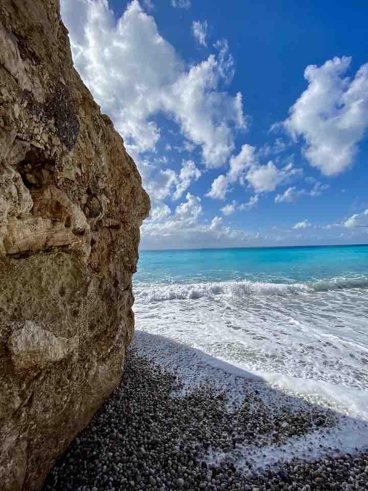 Felsen am Strand Lefkada