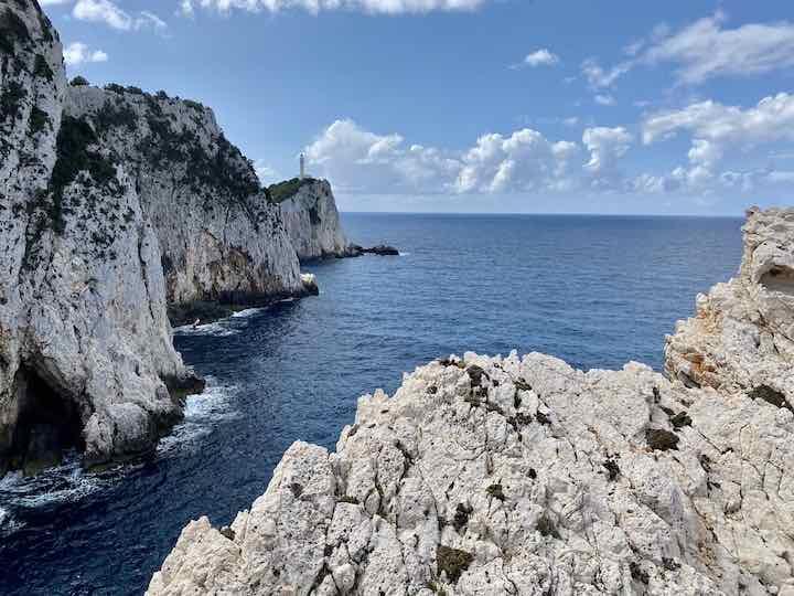 Felsen im Süden Lefkadas