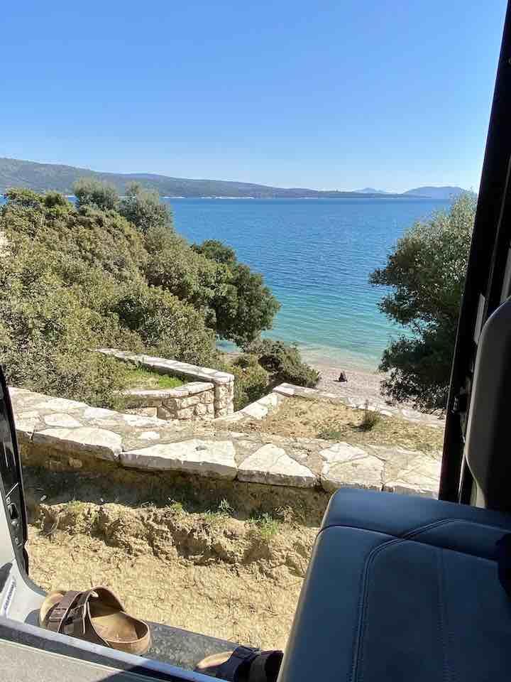 Vanlife Griechenland Stellplatz bei Astakos