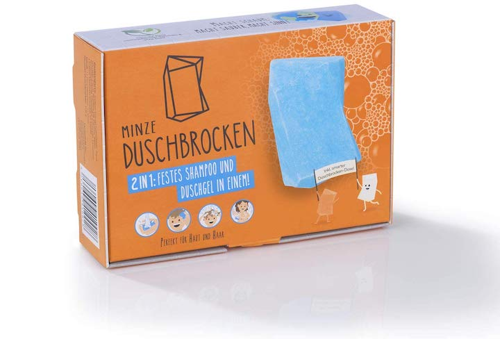 Duschbrocken in Verpackung