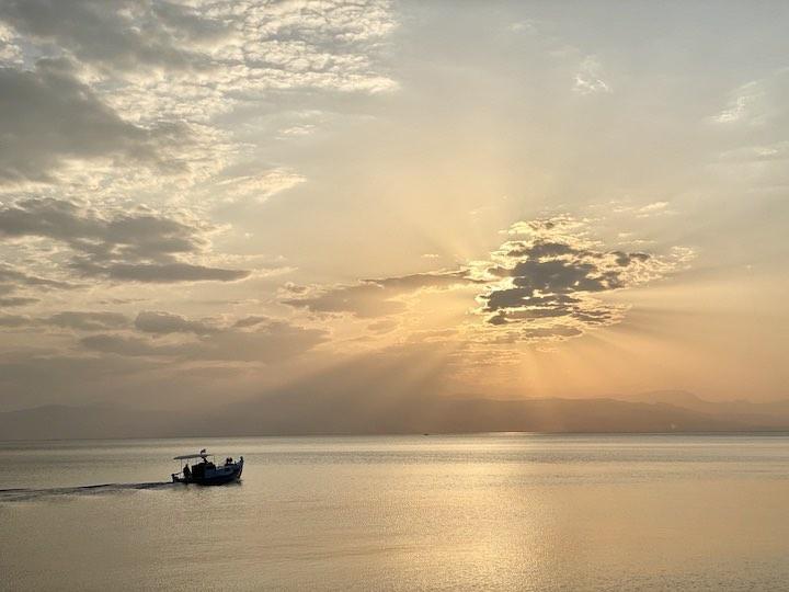 Sonnenuntergang bei Loutraki