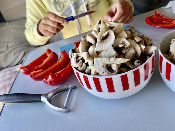 Vorbereitungen Essen