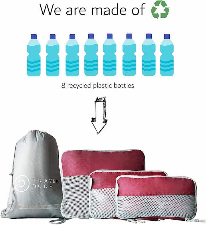 Packtaschen Set Travel Dude mit Prozess Recycling