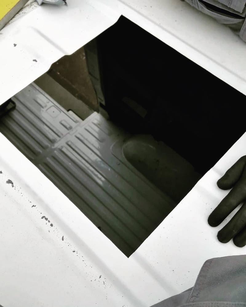 Loch fuer Dachfenster