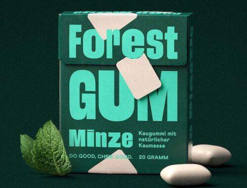 Forest Gum Kaugummi Verpackung mit Minze