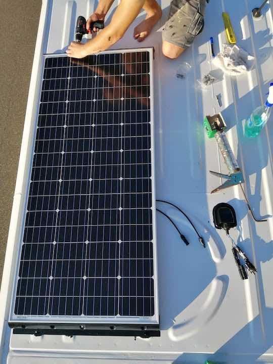 Das erste 180 Watt Panel sitzt