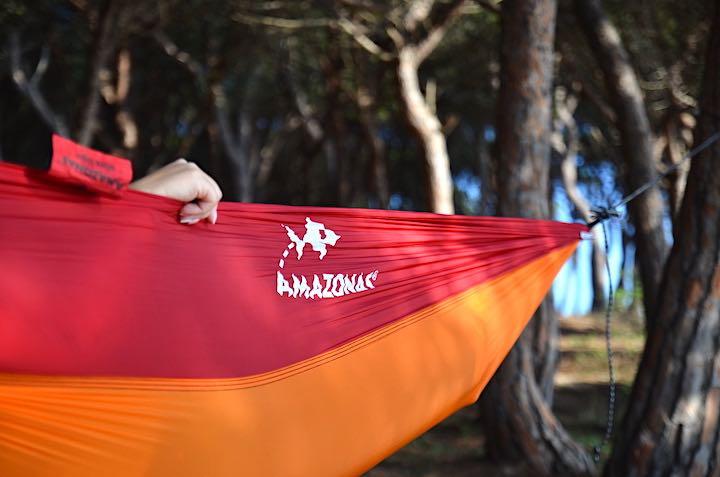 AMAZONAS Logo auf der Seite von Adventure Hammock