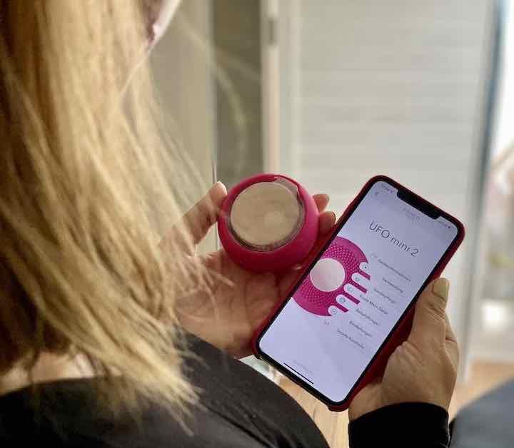 Behandlung wird mit FOREO App gestartet