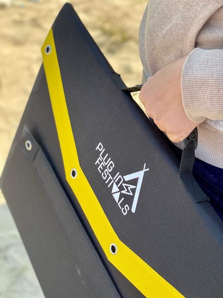 Tragegriff und Logodruck SolarPanel